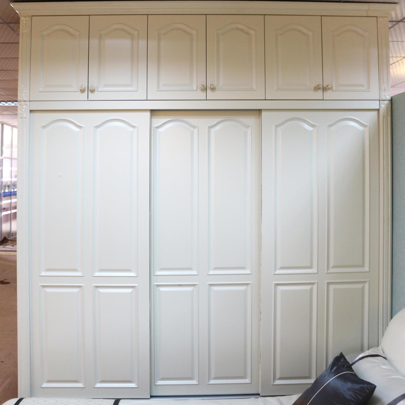 长沙华悦整体衣柜滑门定制 颗粒板式欧式衣柜推拉门移门衣柜定做
